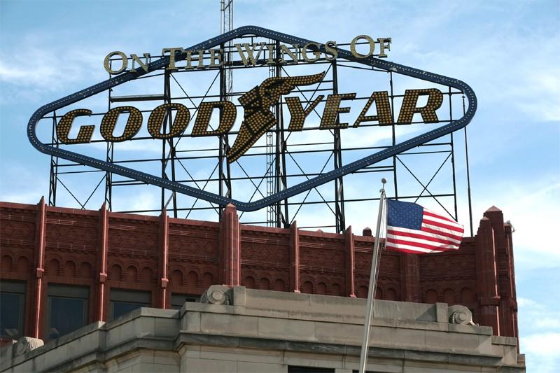 Une usine Goodyear en Ohio... (Bloomberg)
