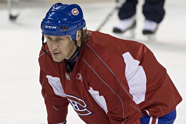 Alex Kovalev à l'entraînement du Canadien mardi matin.... (Photo: Ivanoh Demers, La Presse)