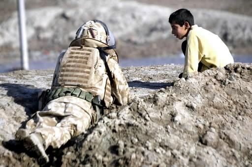 Un soldat britannique... (Photo: AFP)