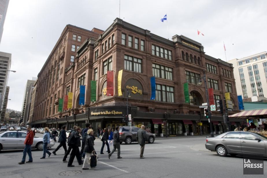 Le magasin La Baie au centre-ville de Montréal... (Photo: Rémi Lemée, La Presse)