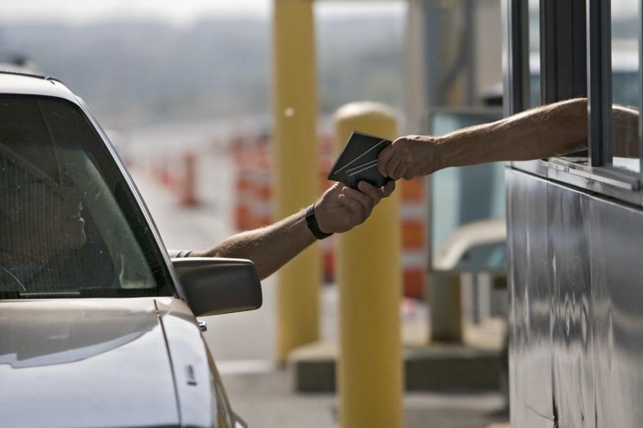 Les mesures de sécurité à la frontière... (Photo Patrick Sanfaçon, La Presse)
