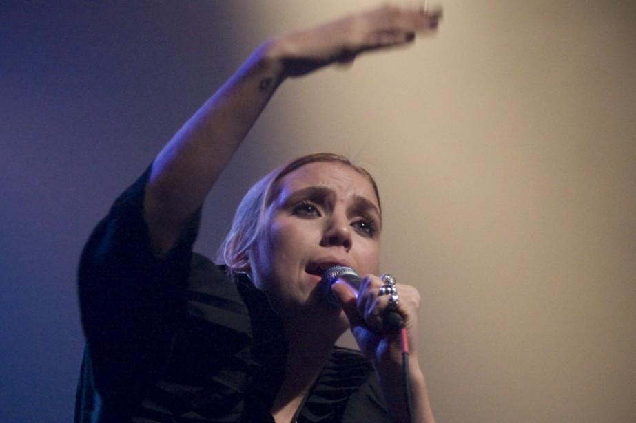 Hier soir au Club Soda, la jeune Suédoise... (Photo: André Pichette, La Presse)