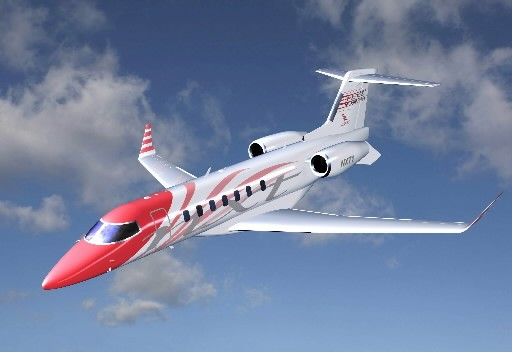 Une illustration de Learjet de Bombardier...