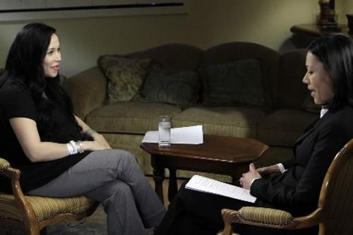 Nadya Suleman a accordé une entrevue à Ann... (Photo: AP)