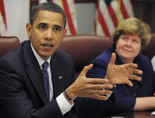 Barack Obama et Christina Romer, qui dirige son... (Photo: Agence France-Presse)
