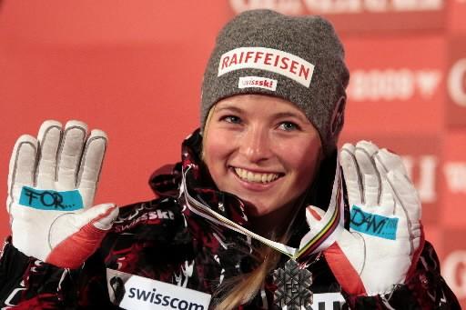 La Suissesse Lara Gut a dominé la première... (Photo: AFP)