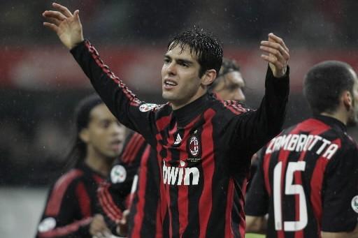 Le meneur de jeu brésilien de l'AC Milan, Kaka, ne pourra pas... (Photo: AP)