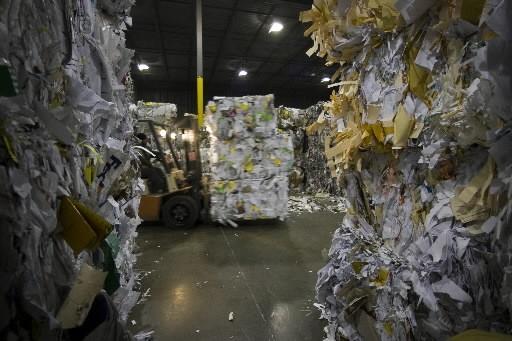 Une usine de recyclage de Cascades à Lachine...