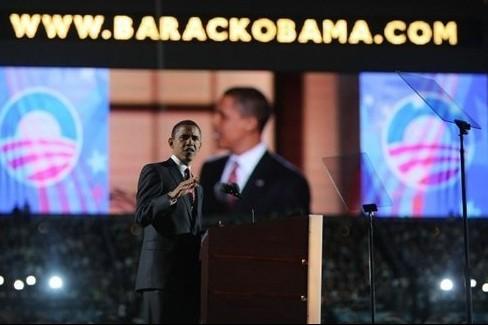 Barack Obama lors d'une conférence à Denver.... (Photo: AFP)