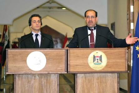 Nicolas Sarkozy et Nouri al-Maliki.... (Photo: Bloomberg)