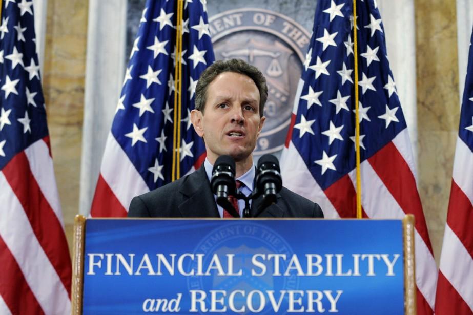 Timothy  Geithner, le secrétaire américain au Trésor.... (Photo AFP)