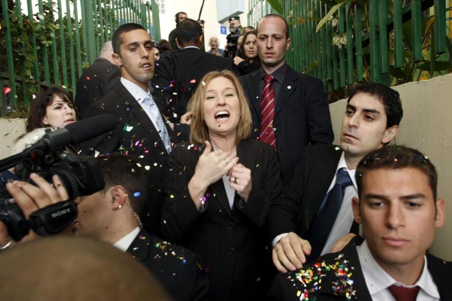 «Nous formerons le prochain gouvernement», a dit Tzipi... (Photo Reuters)