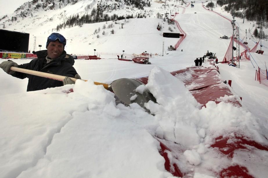 L'épreuve par équipes des championnats du monde de ski alpin, qui... (Photo: AP)