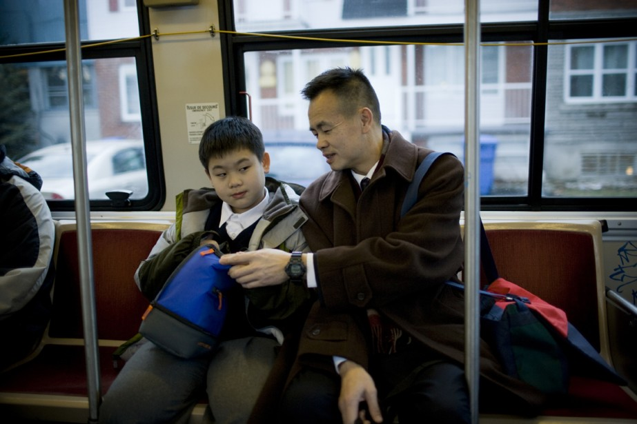 Ping et Di prennent l'autobus ensemble tous les... (Photo: David Boily, La Presse)