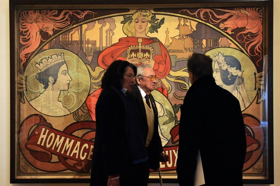 Alfons Mucha, dont les célèbres affiches de théâtre de Sarah... (Photo: AFP)