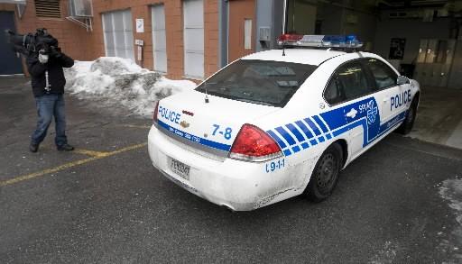 Environ 700 policiers ont participé à l'opération Axe.... (Photo: Ivanoh Demers, La Presse)