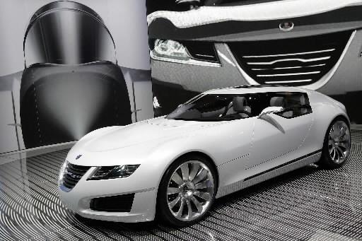 La Saab Aero X Concept... (Photo: Agence France-Presse)