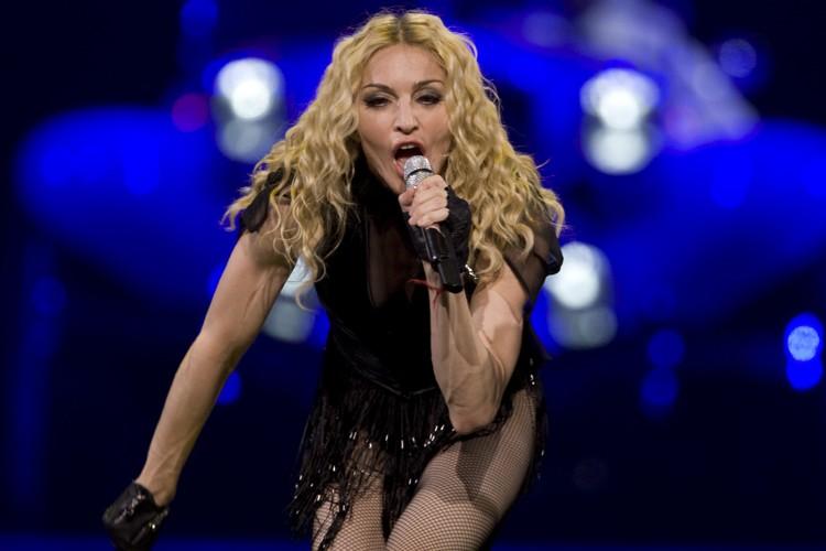 Une photo de Madonna nue, à 20 ans,... (Photo: André Pichette, La Presse)