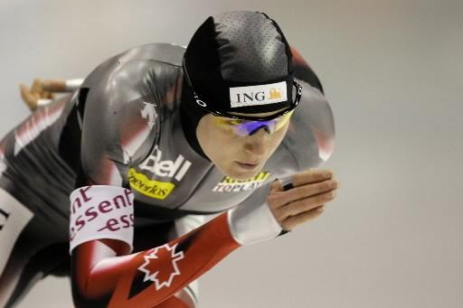 Kristina Groves a remporté la médaille de bronze... (Photo: AP)
