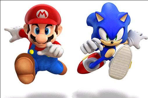 Les personnages de Mario et Sonic...