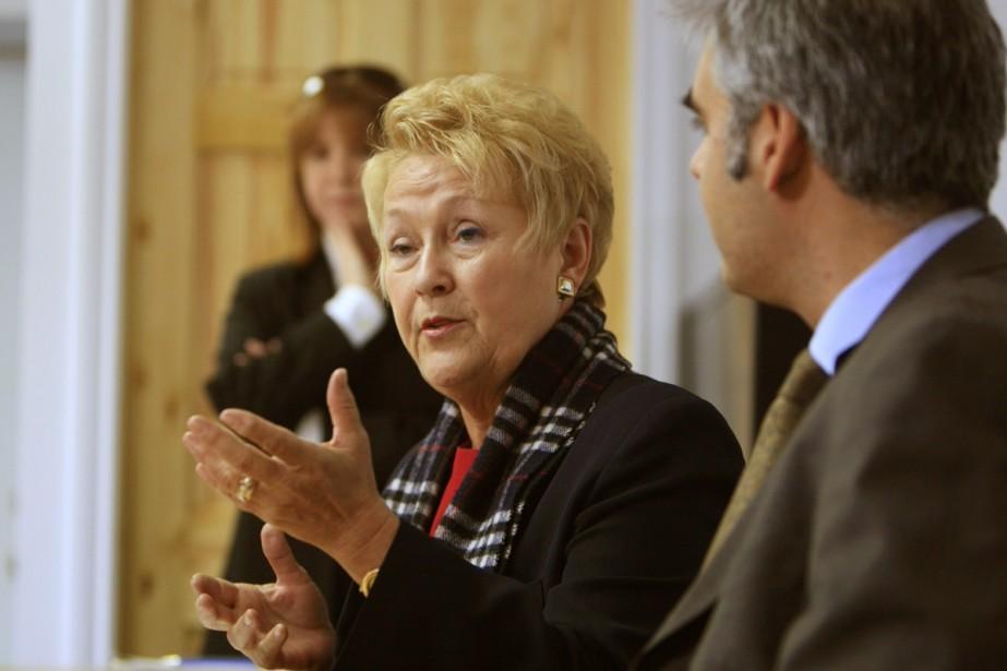 Pauline Marois s'est adressée aux médias ce matin.... (Photo: Alain Roberge, La Presse)