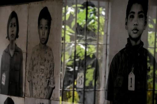 Quelques-unes des nombreuses victimes à la prison Tuol... (Photo: AFP)