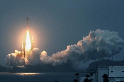 Lancement d'un satellite de la base de l'île... (Photo: Reuters)