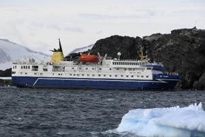 Le navire «Ocean Nova» s'est immobilisé près de... (Photo: AFP)