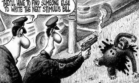 La caricature publiée mercrdi dans le New York...