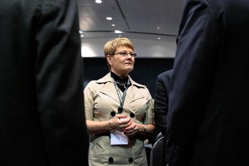 La ministre suédoise de l'Industrie Maud Olofsson.... (Photo: AFP)