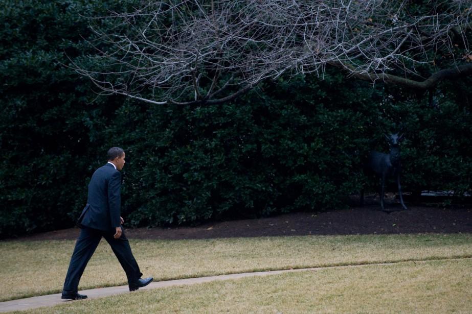 Le président américain, Barack Obama, va manger aujourd'hui à... (Photo AP)