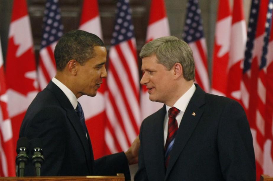 La rencontre entre MM. Harper et Obama s'est... (Photo: Ivanoh Demers, La Presse)