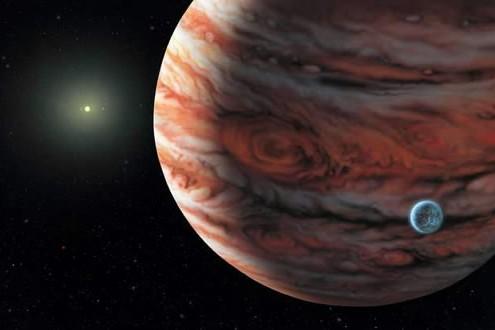 Illustration de la planète Jupiter et de deux... (Photo: archives AP)