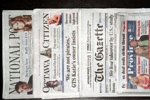 L'action de Canwest Global Communications (TSX:CGS) a dégringolé... (Photo: PC)