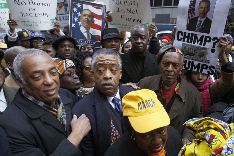 Le révérend Al Sharpton participait à la manifestation... (Photo: Reuters)