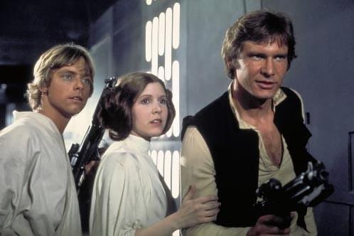 Luke Skywalker (Mark Hamill), Princess Leia (Carrie Fisher)...