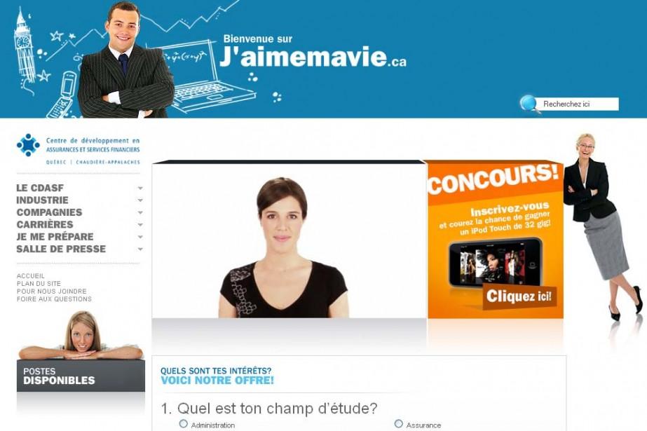 Le site assurancequebeclevis.ca/jaimemavie...