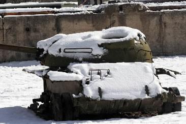 Un tank soviétique... (Photo: archives AFP)