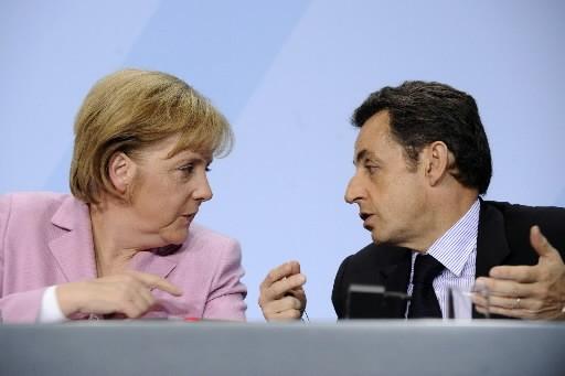 Angela Merkel et Nicolas Sarkozy... (Photo: Agence France-Presse)