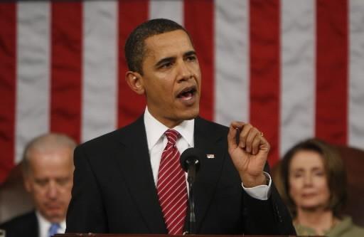 S'adressant aux deux chambres du Congrès pour la... (Photo: AP)