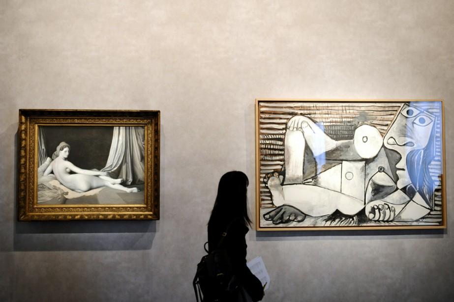 Une visiteuse à l'exposition Picasso et les maîtres... (Photo: AP)
