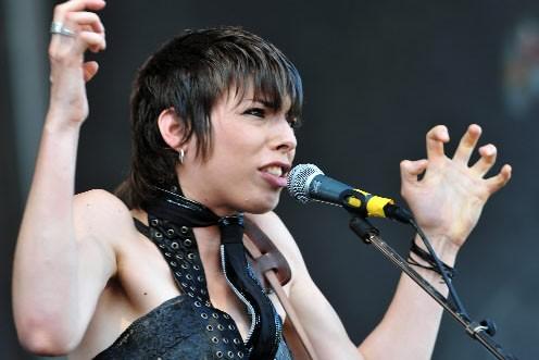La chanteuse Mademoiselle K... (Photo: AFP)