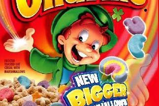 Un boîte de céréales Lucky Charms...