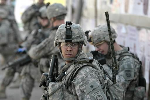Des soldats américains déployés en Irak.... (Photo: AFP)