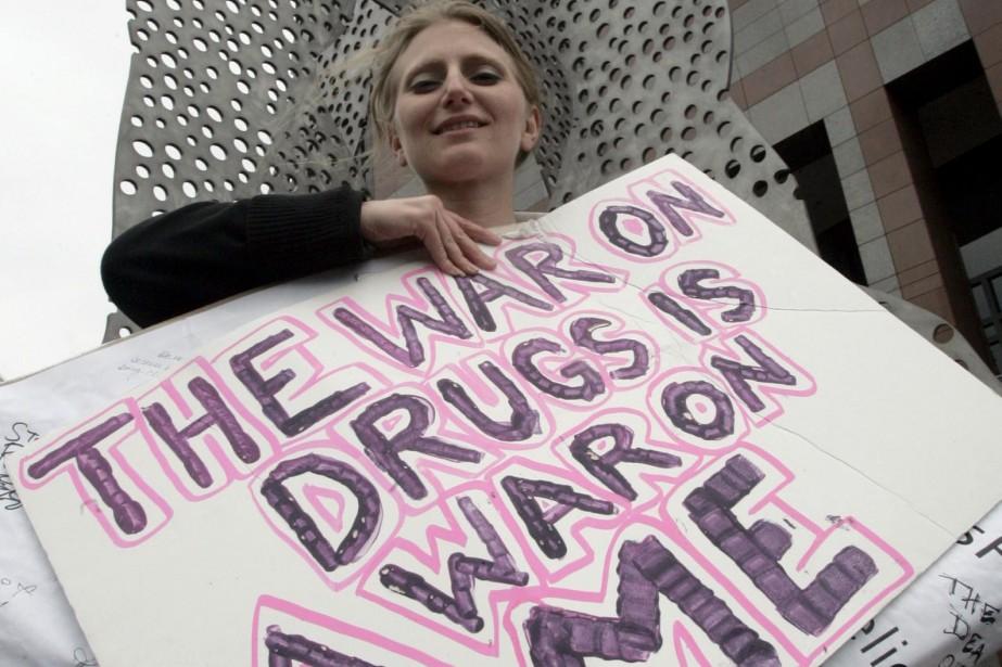 Cheryl Aichele, de Los Angeles, utilise la marijuana... (Photo AP)