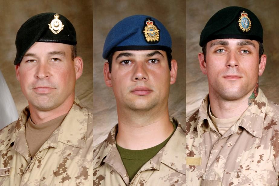 L'adjudant Dennis Raymond Brown et les caporaux Dany... (Forces canadiennes)