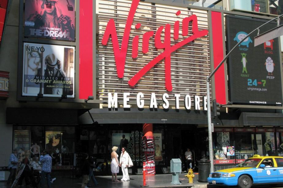 Le Virgin Megastore de Los Angeles.... (Photo: AP)