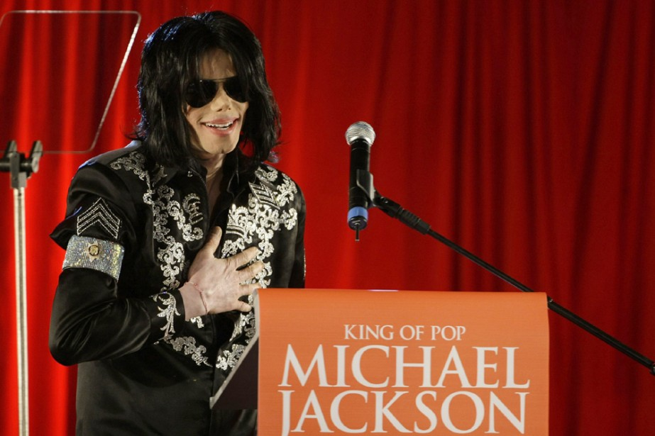 Michael Jackson en conférence de presse à Londres.... (Photo: Reuters)