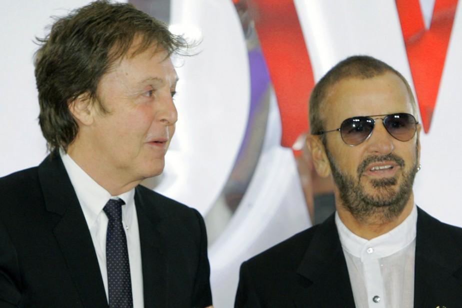 Paul McCartney et Ringo Starr... (Photo: AP)