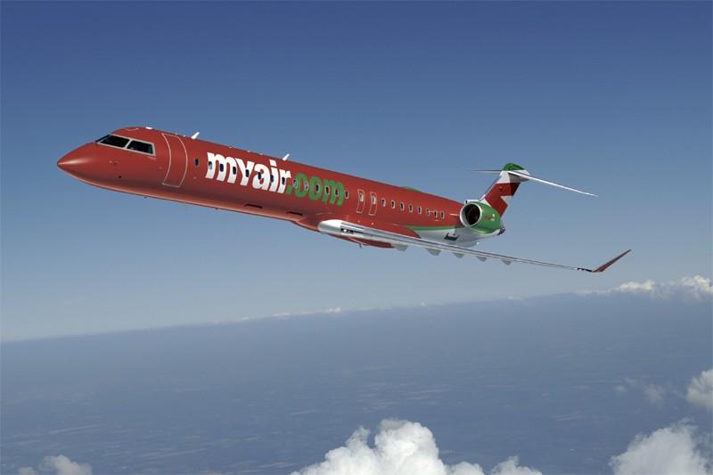 Un CRJ 900 de Bombardier...
